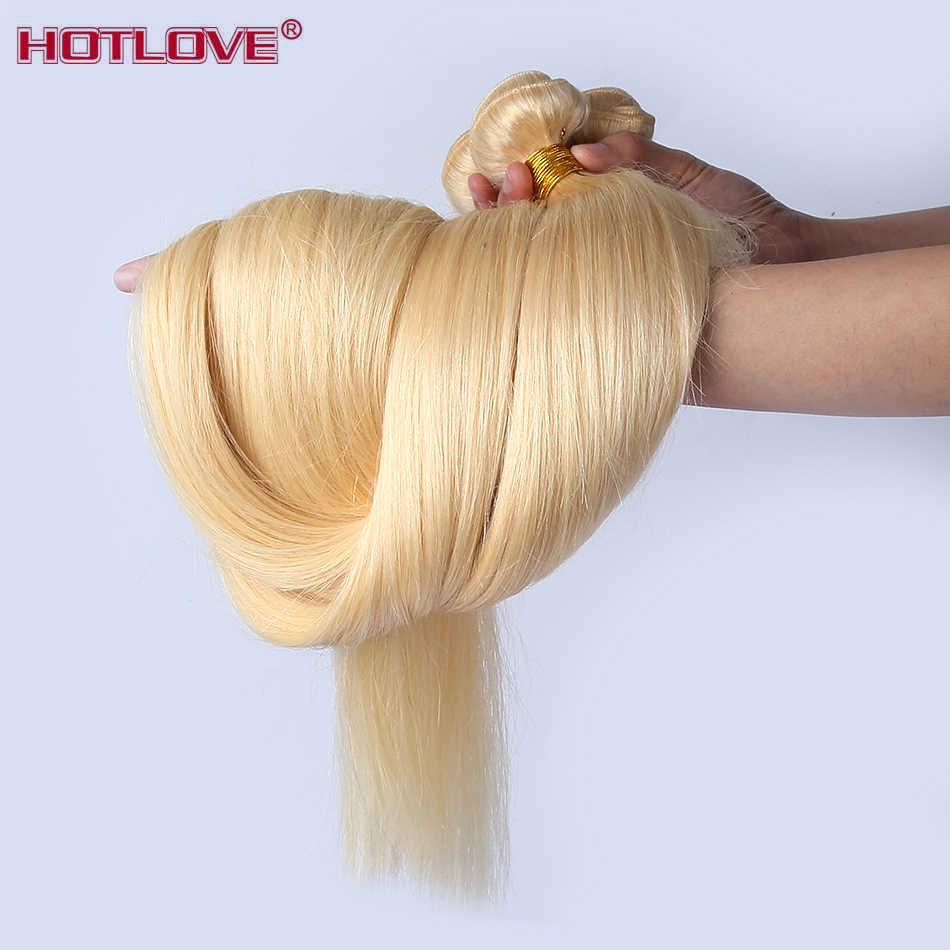 Brezilyalı saç 613 bal sarışın düz saç İnsan saç 1/3/4 demetleri 8-26 inç karışık örgü demetleri remy saç ekleme