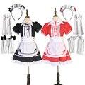 Maid Costume Japanese Anime Cosplay Sweet Classic Lolita Fancy Apron Maid Dress with Socks Gloves Set