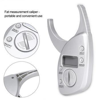 Przenośny cyfrowy pomiar Skinfold Tester tłuszczu Monitor analizator mięśni Slim suwmiarka kształtowanie sylwetki Tester utraty wagi tanie i dobre opinie TMISHION Approx 11 * 6 5cm 4 3 * 2 6inch Tkanki tłuszczowej monitory Body Fat Testers 3V Battery(Not Included) 0 - 50mm 0 - 2 0inch