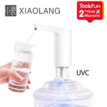 XiaoLang-dispensador de agua con interruptor táctil y automático para el hogar, bomba eléctrica de carga, esterilización ultravioleta UVC
