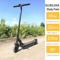 No Tax Free Shipping Ultralight 7.5kg Electric Scooter 25km/h E scooter 6.5 Inches 36v 250w Foldable Electrico Longboard Adult