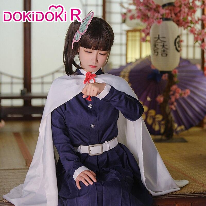 DokiDoki-R Anime Cosplay Demon Slayer: Kimetsu no Yaiba Tsuyuri Kanawo Women Halloween Costume Anime Kimetsu no Yaiba Cosplay