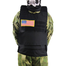цена на Military Airsoft Tactical Vest Combat Plate Carrier Assault Police Molle Paintball CS Hiking Hunting American Flag Vest For Men