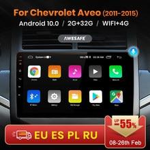 Awesafe px9 para chevrolet aveo 2 sonic t300 2011 - 2015 rádio do carro reprodutor de vídeo multimídia navegação gps nenhum 2 din dvd android 10