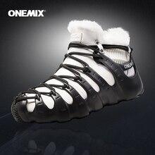 Gorące Onemix zimowe męskie buty trekkingowe antypoślizgowe buty do chodzenia wygodne ciepłe odkryte trampki dla kobiet buty zimowe