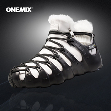 Hot Onemix Winter Mens Trekking Shoes Anti Slip Walking Shoes Comfortable Warm Outdoor Sneakers For Women Winter Keeping Shoes