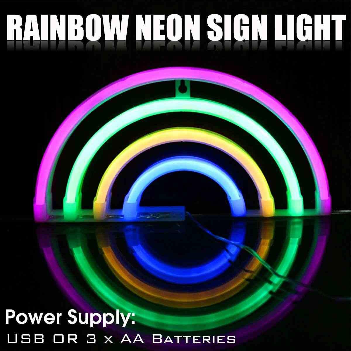 LED Neon ışık renkli gökkuşağı Neon işareti ampuller oda için ev partisi dekoru bira Bar için ekran duvar Neon lamba noel hediyesi
