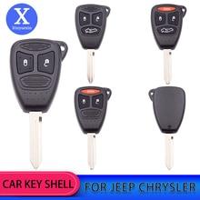 Xinyuexin Remote Car Key Case Shell 2/3/4Button for Dodge Dakota Durango Charger Chrysler 300 Aspen Jeep Grand Cherokee Commande