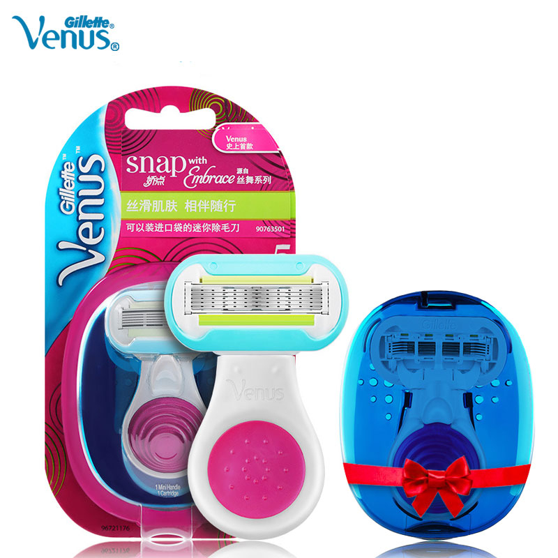 Gillette Venus Women Razor Mini Portable Safely Straight Hair Removal Lady 5 Layers Blade Snap With Embrace Safe Smooth Shaving