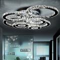 Хорошее качество, прозрачный кольцевой светодиодный потолочный светильник, кристаллы, заподлицо, освещение для гостиной, lampara, светодиодны...