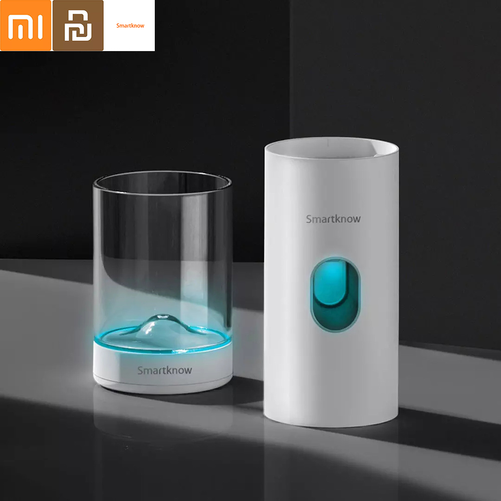 Smartknow Automatic Induction Toothpaste Machine Sterilization Brushing Cup Toothpaste Squeezer Travel Clean From Xiaomi Youpin