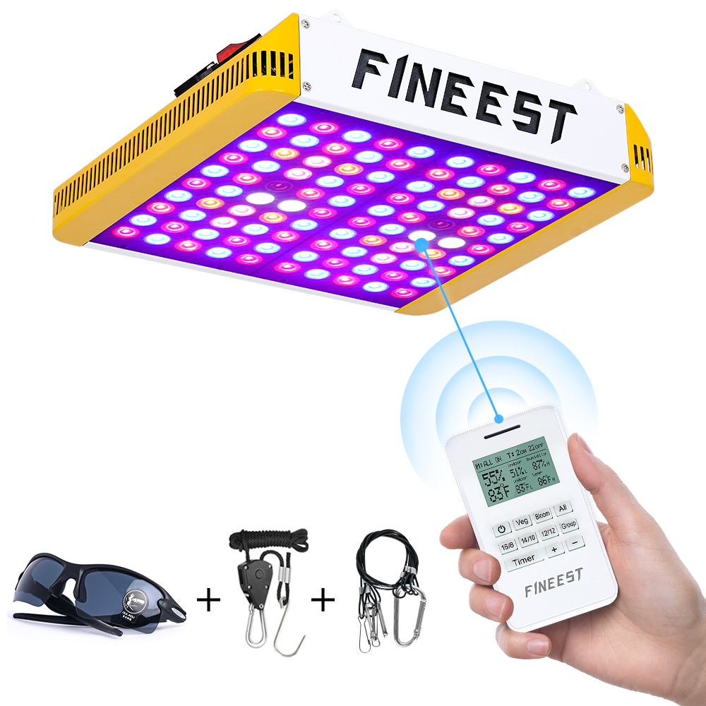 Better for Full Growth Flowering Fruiting VEG Seedling with Thermometer Hygrometer and Protective Glasses LED Grow Light 1200W Full Spectrum Sunlight 3500K White and Red 660nm Added Grow Lights for Indoor Plants