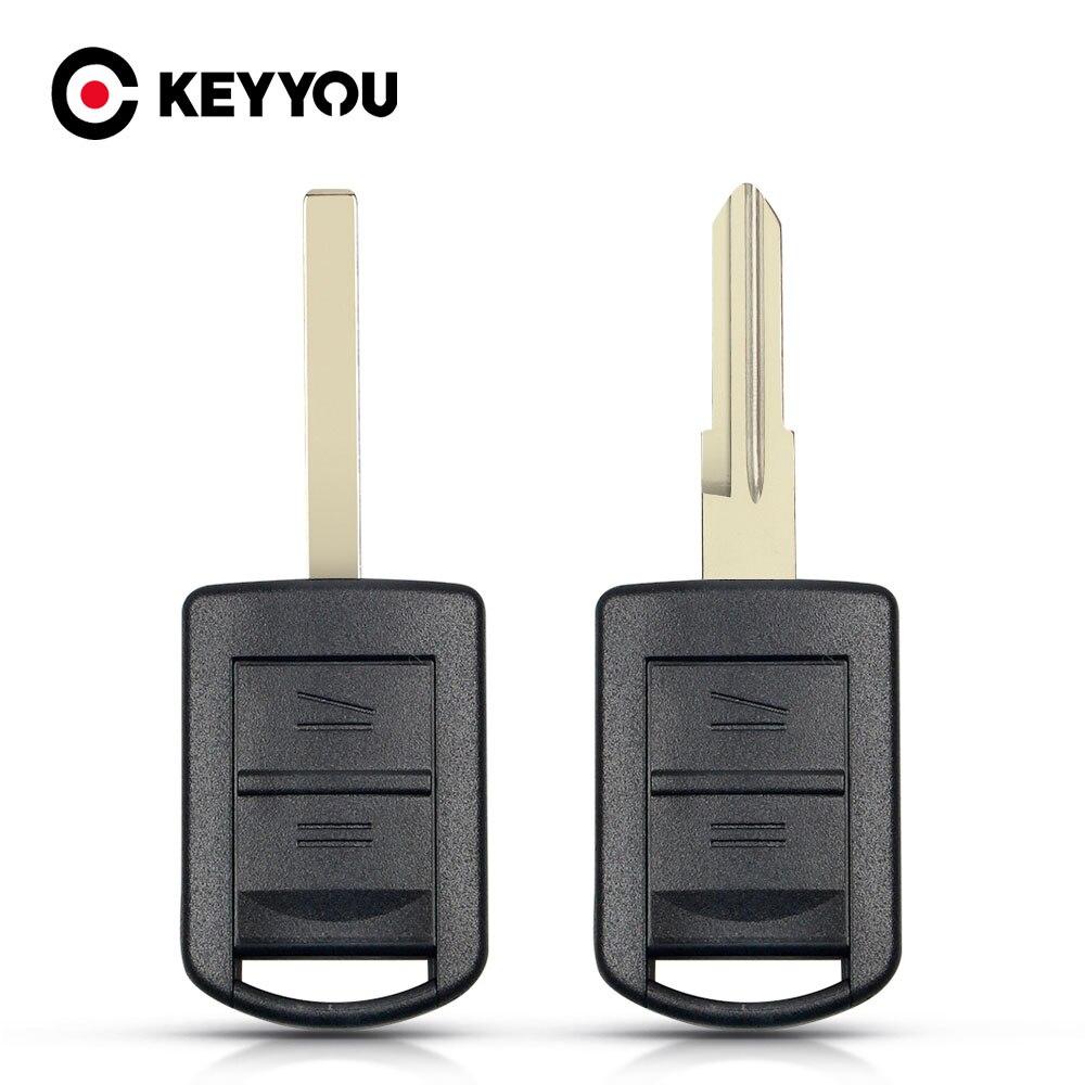Сменный корпус KEYYOU для ключа дистанционного управления с 2 кнопками для Vauxhall, Opel, Corsa, Tigra, Agila, Meriva, комбинированные Неразрезанные лезвия, авто...