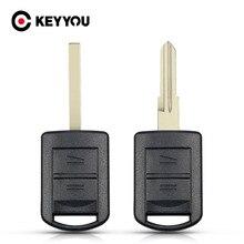 KEYYOU – coque de clé télécommande de remplacement à 2 boutons, pour Vauxhall Opel Corsa Tigra Agila Meriva Combo lame non coupée, accessoires de voiture