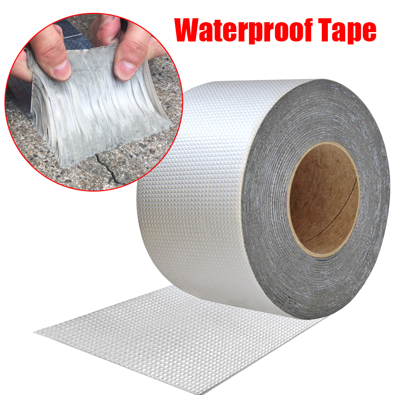Водонепроницаемая лента с высокой термостойкостью, алюминиевая фольга, утолщенная бутиловая лента, клейкая лента для ремонта стен, трещин, ...
