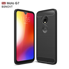 For Motorola Moto G7 Case Silicone Shockproof Anti-knock Cover Funda 6.4 Phone Holder