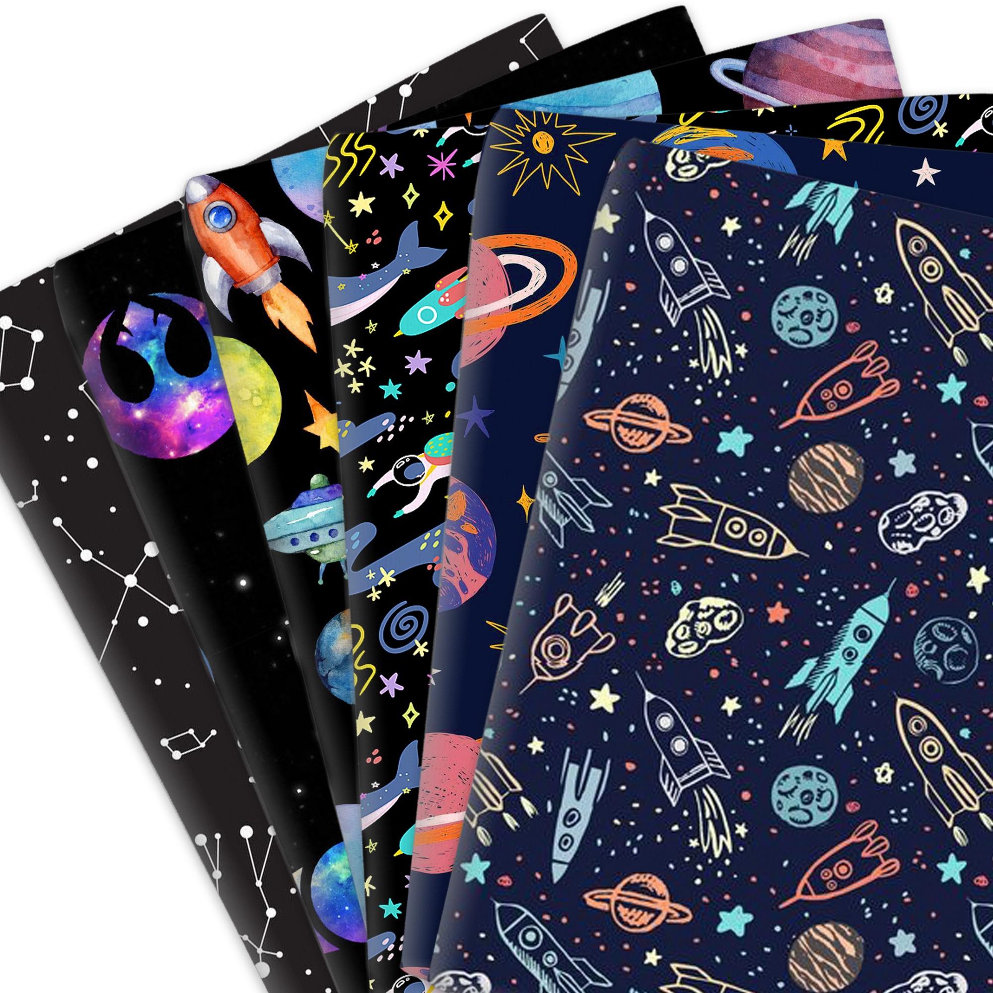 50*145 см планета 100% хлопок Материал ткань пространства полиэстер хлопок лоскутное шитье стеганые ткани рукоделие