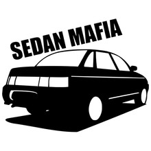 Ck2758 # vaz 2110 sedan mafia engraçado adesivo de carro vinil decalque prata/preto carro auto adesivos para carro janela amortecedor decorações do carro