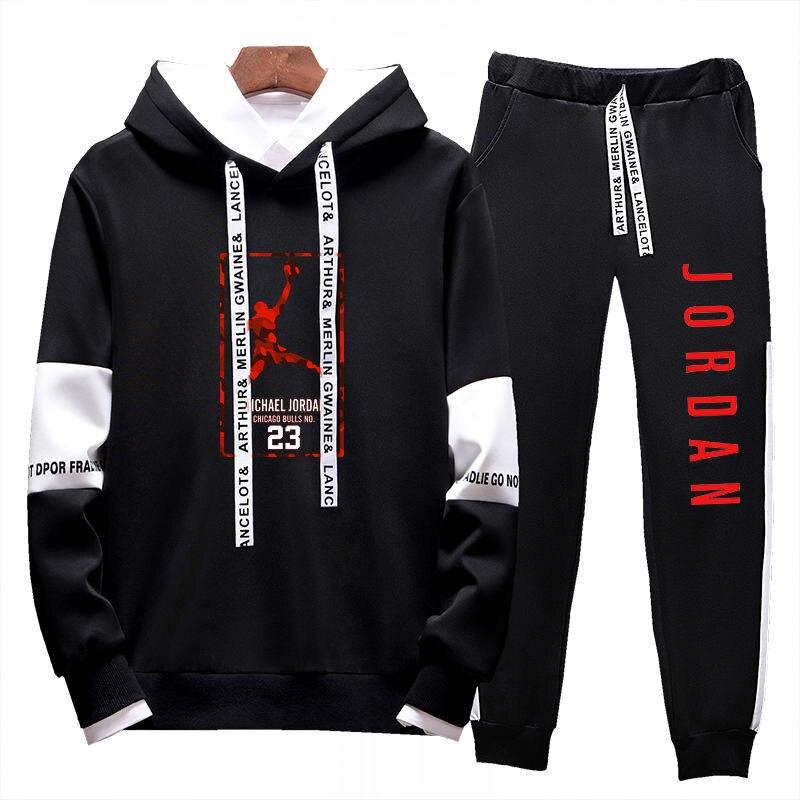 Image 5 - 2019Two Pieces Set Fashion Hooded Sweatshirts Sportswear Men  Tracksuit Hoodie  New Autumn Men Brand Clothes Hoodies Pants SetsMens  Sets