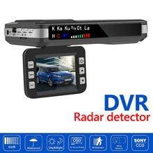 2 in 1 araba dvr'ı ön panel kamerası İngilizce rusça sesli Radar dedektörü hız göstergesi mobil hız Radar tespit korumak X K CT La