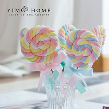 Simulation Marshmallow Lollipop fake candy children photography shooting props dessert table bedroom layout scene decoration