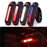 Luz de bicicleta recargable por USB, luz trasera para ciclismo, casco, linterna resistente al agua, accesorios para bicicleta de montaña