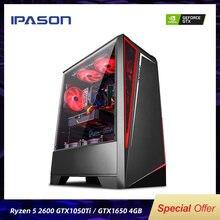 IPASON – ordinateur de jeu champ de bataille S5 R5 2600, 8 go 256 go 1050TI/1650/1660S, ordinateur de bureau d'assemblage complet pour Gta5/PUBG/LOL