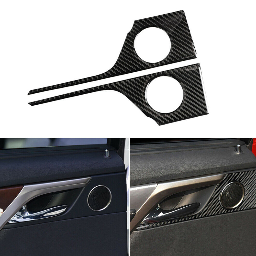 Carbon Fiber Car Rear Door Handle Panel Cover Trim Decor Stickers Frame For Lexus RX300 270 200T 450H 2016-2019 Interior Parts