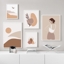 Abstract Girl River Mountain Wall Art Canvas Painting Posters And Prints Nordic Minimalist Wall Pictures For Living Room Decor abstract minimalist sexy line woman wall art canvas painting nordic posters and prints wall pictures for living room home decor