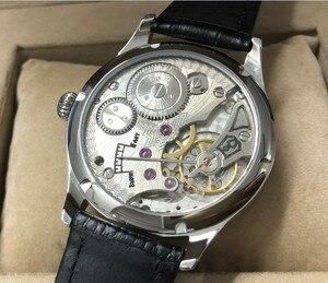 Image 5 - Nieuwe Mode 44 Mm Geen Logo Emaille Witte Wijzerplaat Aziatische 6498 17 Juwelen Beweging Mannen Mechanische Horloges GR47 20