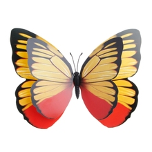 Colorful Fairy Butterfly On Stick Ornament Home Garden Vase Lawn Art Craft Decor 72XF