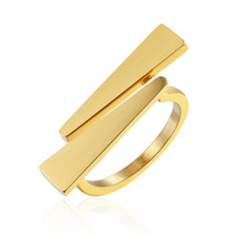Triangle rings for women gold color ring lady anniversary stainless steel jewelry Trendy