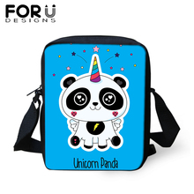 FORUDESIGNS Messenger Bag for Teenager Girls Cute Panda Unicorn Shoulder Women Men Mini Satchel Crossbody Purse Tote 2019