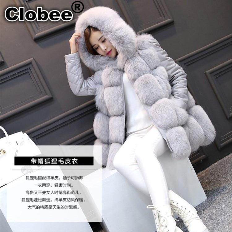 Pele do falso colete 2020 inverno fofo 6xl pele de raposa com capuz casaco de pele do falso vermelho/cinza/preto/mex jaqueta de pele artificial s/xxxl