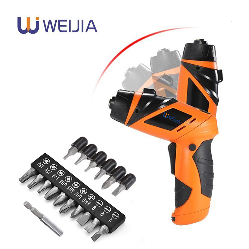 6V Electric Screwdriver Cordless Drill Mini Wireless Power Driver DC  Battery Repair Tool Kit With LED Light With 7 OR 11 Bits