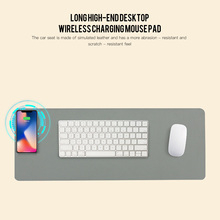 10W Leather Wireless Charging Mouse Pad Office Computer Desk Mat Laptop Cushion Desk Mat Gaming Leather Mousepad Keyboard Cover