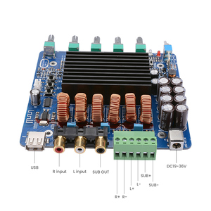 Image 4 - AIYIMA placa amplificadora de potencia TDA7498E, 160W x 2 + 220W, 2,1 canales, Amplificador de sonido Subwoofer, bricolaje, para el hogar y el coche