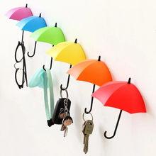 Self Adhesive Umbrella Hook Wall Door Clothing Hanger Key Holder Home Accessories Multi-Purpose For Kitchen Bathroom Bedroom