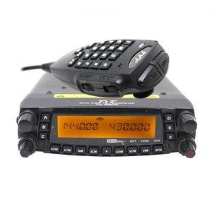 Image 2 - Rádio automotivo do caminhão do carro da faixa v/uhf do quadrilátero do repetidor da estação de rádio 50w do transceptor móvel de tyt th9800 TH 9800 com cabo