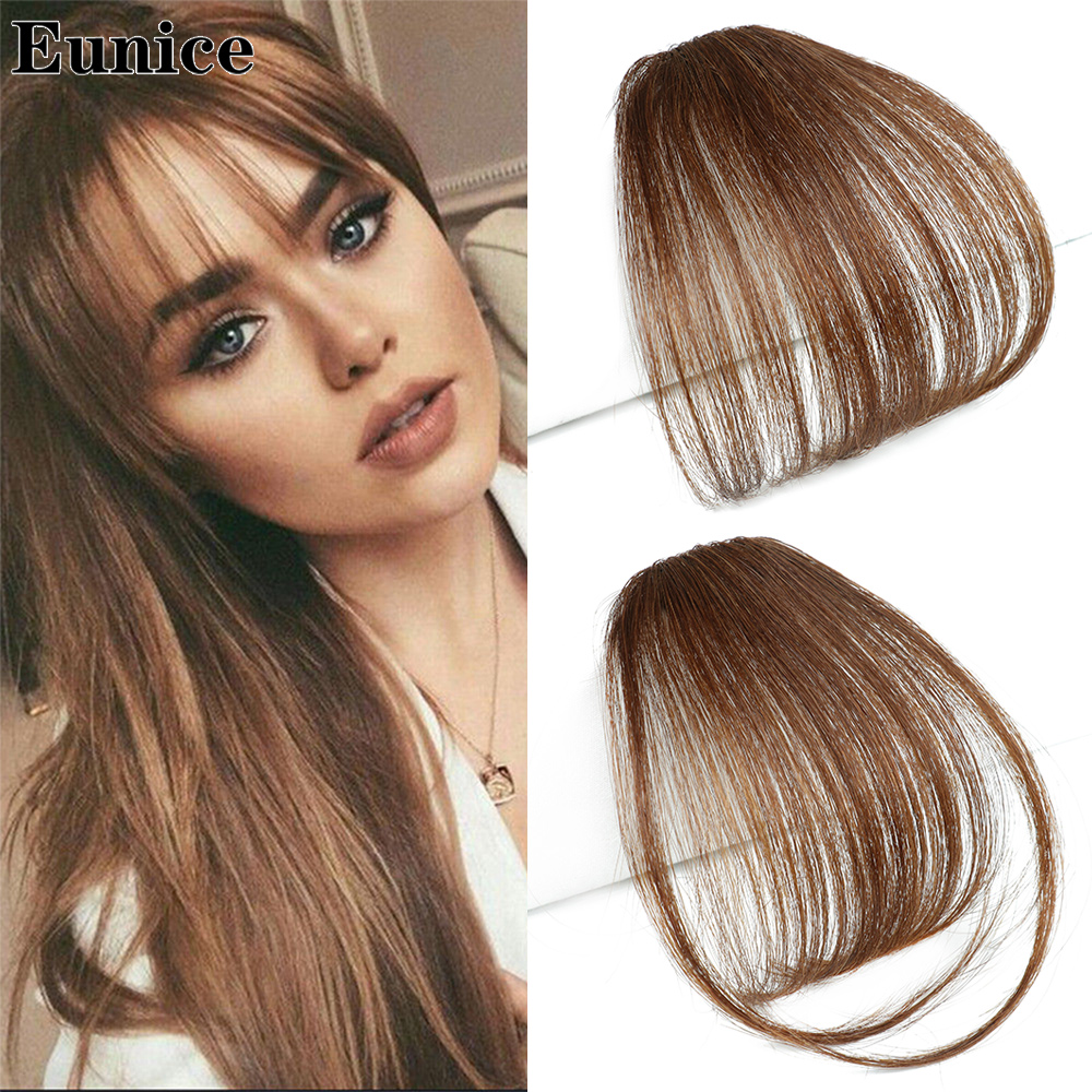 Hot DealsHairpiece Hair-Bangs Clip-In Blone Black Synthetic Brown Eunice╜