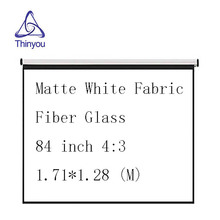 Thinyou Matte White Fabric Fiber Glass Curtain projector screen 84 inch 4:3 Pull-Down High-definition Curtain Projection Scree стоимость