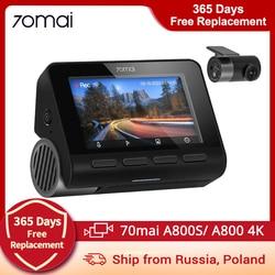 70mai A800 4K Dash Cam 70mai A800 4K Dash Camera 3840X2160 Resolution Support GPS, Rear Camera Dual Vision 70mai A800S
