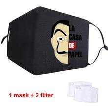 Masque facial lavable en Polyester pour adultes, anti-poussière, confortable, respirant, pour hommes/femmes, avec filtres