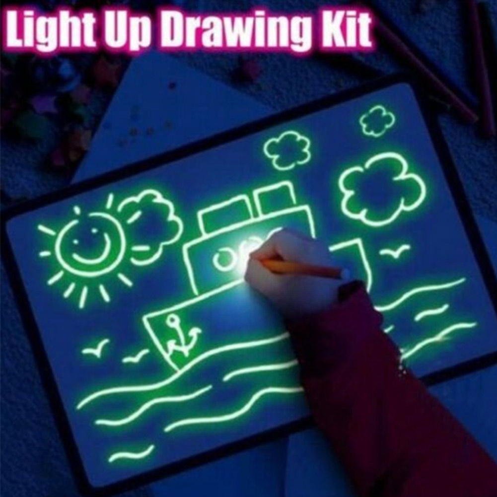 Illuminated Light Drawing Board Toy Development Drawing Doodle Tablets Education Toys New AS99