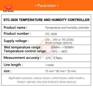 Image 5 - הדיגיטלי טרמוסטט Hygrostat טמפרטורת לחות בקר AC 110V 220V DC 12V 24V רגולטור חימום קירור בקרת STC 3028
