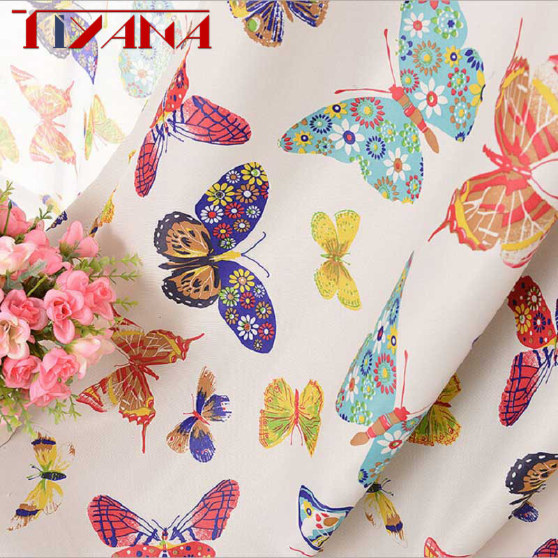 Cortinas Curtain Luxury Voile Tulle Living Room Kitchen Bedroom Kids Flower Colorful Butterfly Rome Blackout Curtains WP202&30