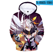 Hip hop Streetwear Honkai Impact 3 Fleece Hoody Yae Sakura Kawaii Men/women Hoodie Sweatshirt Autumn Winter Coats Kpop Clothes