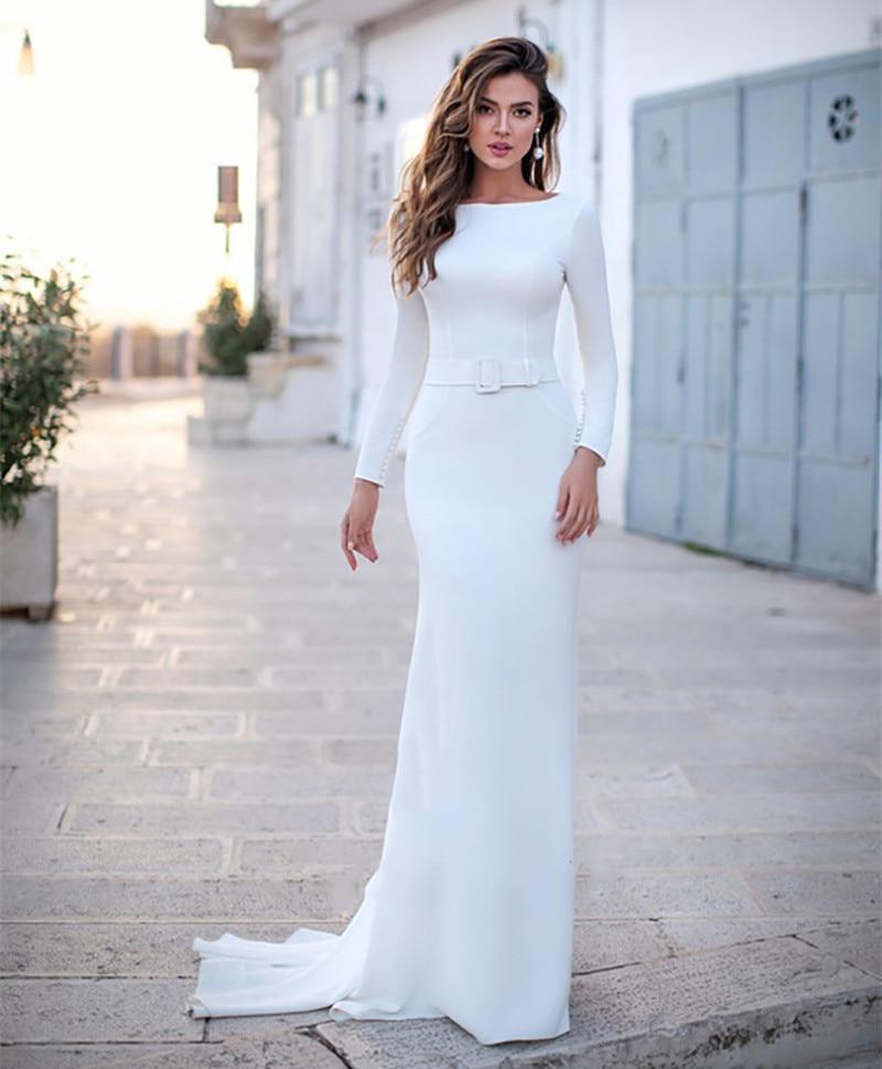 Mermaid Wedding Dress Long Sleeves