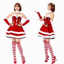 New Santa Claus Costume Cosplay Adult Christmas For Women Dress Up Carnival Party Suit