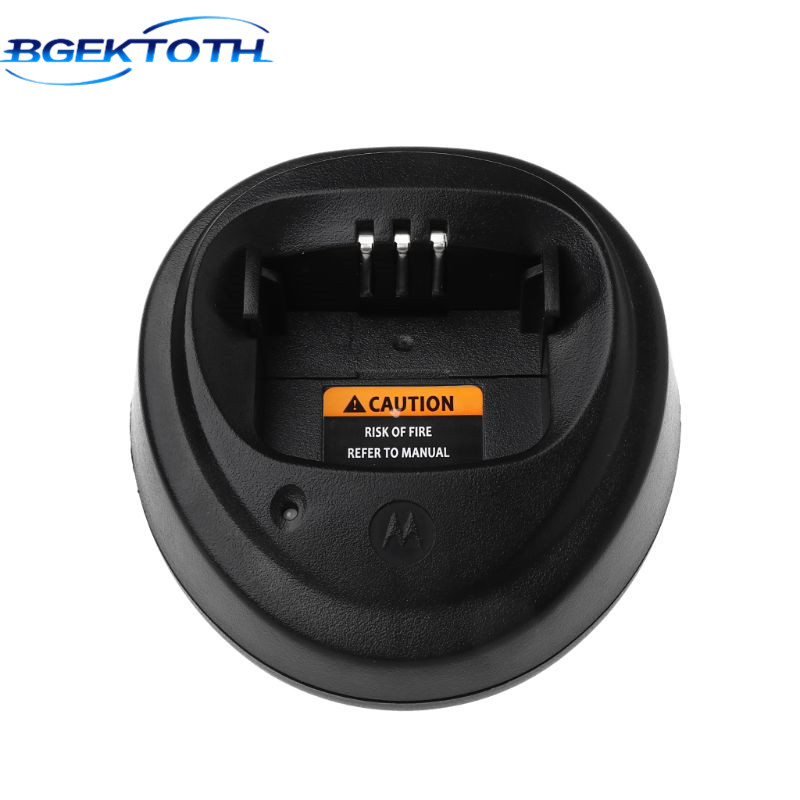 BGEKTOTH Base Charger For Motorola CP040 CP140 CP150 CP160 CP180 CP200 CP200XLS EP450 GP3188 Walkie Talkie Radio Accessories